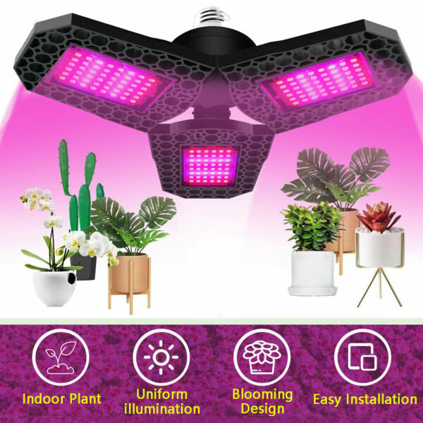 Full Spectrum 144LED Grow Light Plant Growing Lamp for Indoor Plants Hydroponics $13.98