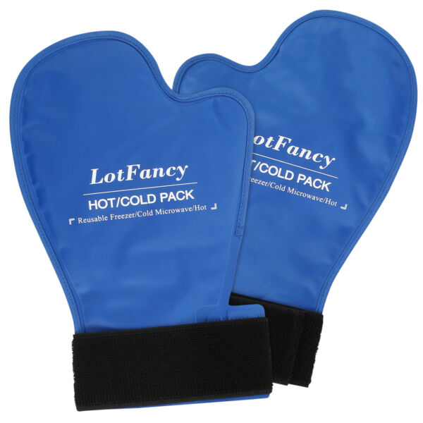 GEL COLD ICE Heat Hot Therapy Relief GLOVE HAND Fingers Mittens for Chemotherapy $19.99