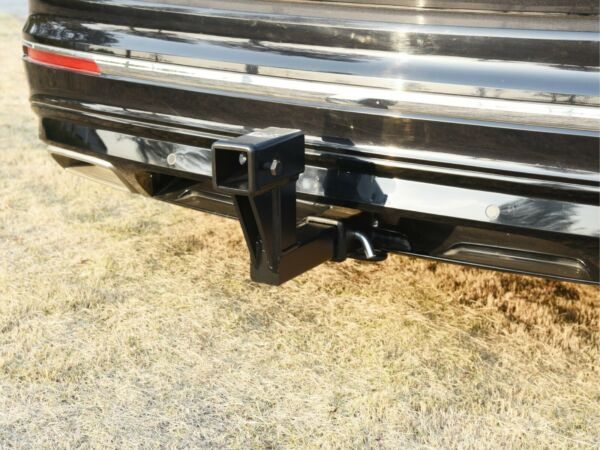 TOPTOW Trailer 2quot; Dual Hitch Receiver Extender for 6.25quot; Rise Drop Solid shank $88.89