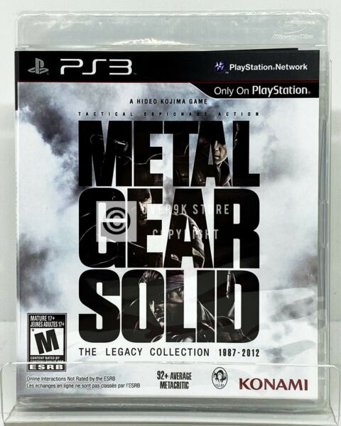Metal Gear Solid: The Legacy Collection NO Artbook PS3 Brand New
