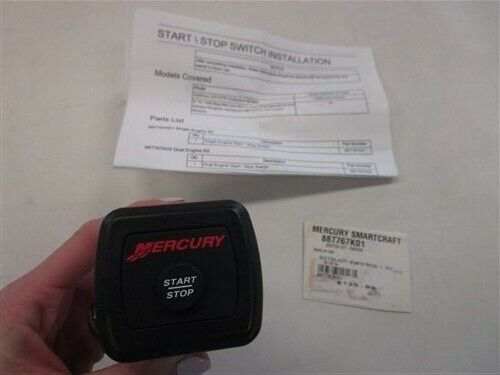 MERCURY SINGLE START STOP SWITCH GAUGE 887767K01 MARINE BOAT
