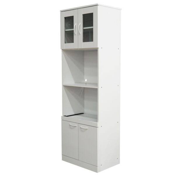 Gremlin Kitchen Storage Pantry Microwave Cabinet With Adjustable Shelves amp; Pu...