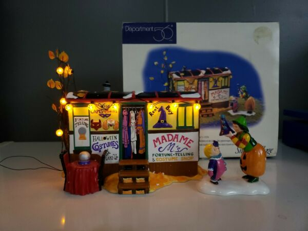 Dept 56 Halloween COSTUMES FOR SALE 2 Pieces 1998 Snow Village #54973 Retired $35.00