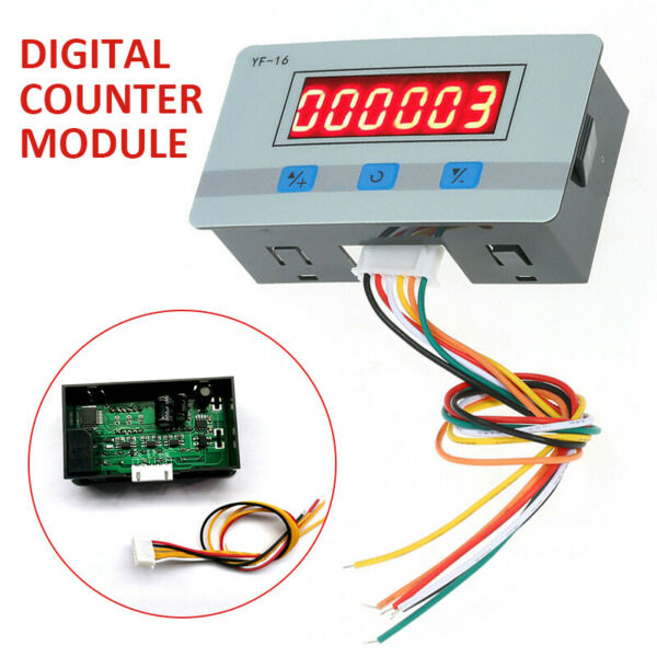Mini LCD Digital Counter Module DC AC5V 24V Electronic Totalizer 1 999999 times