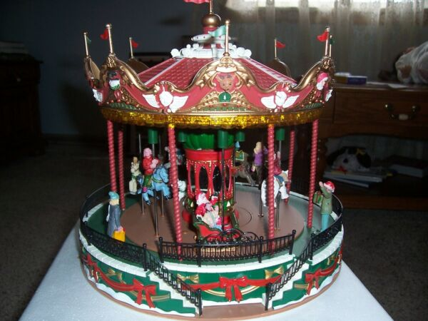 Lemax Village Collection Christmas Santa Carousel #34682 Merry Go Round {NEW}