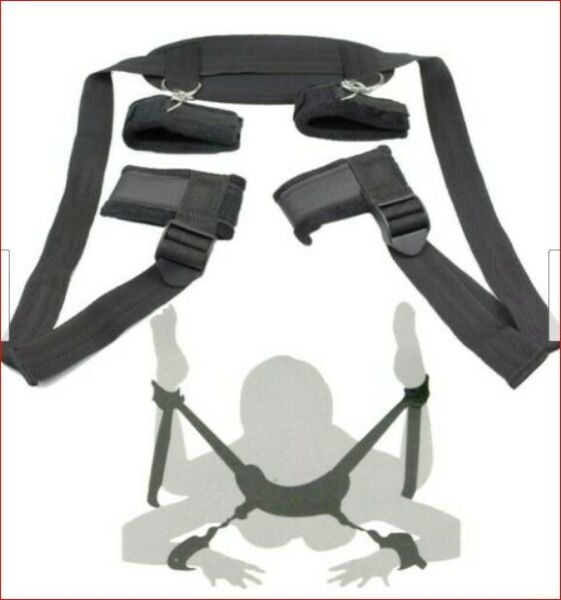 Restraints Kit Wrist Thigh Leg Restraint System Hand Ankle Cuff Bed Sex Play Toy $13.99