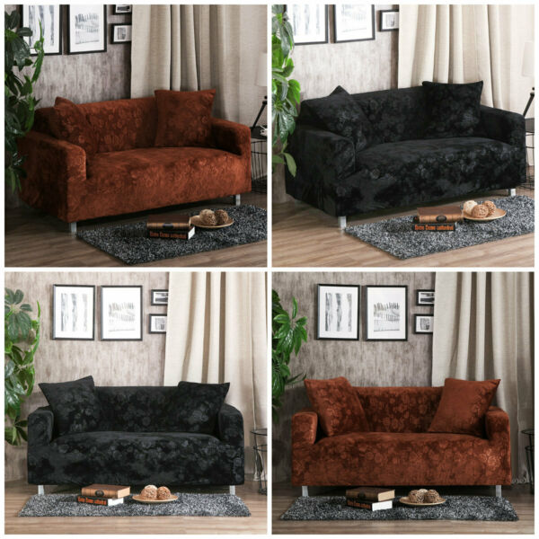 1 2 3 4 Seat Sofa Couch Cover Slipcover Stretch Sofa Furniture Protector Soft US $36.99