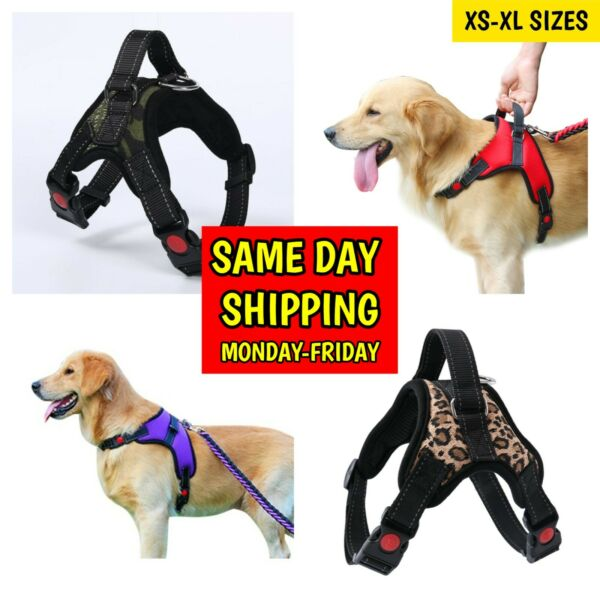 Dog Harness Adjustable No Pull Dog Vest Harness with Handle XS S M Large XL $11.29