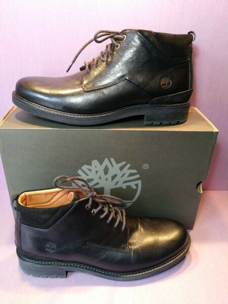 TIMBERLAND OAKROCK Men#x27;s Black Leather Chukka Boots #A2CV6 size 11.5 $89.00