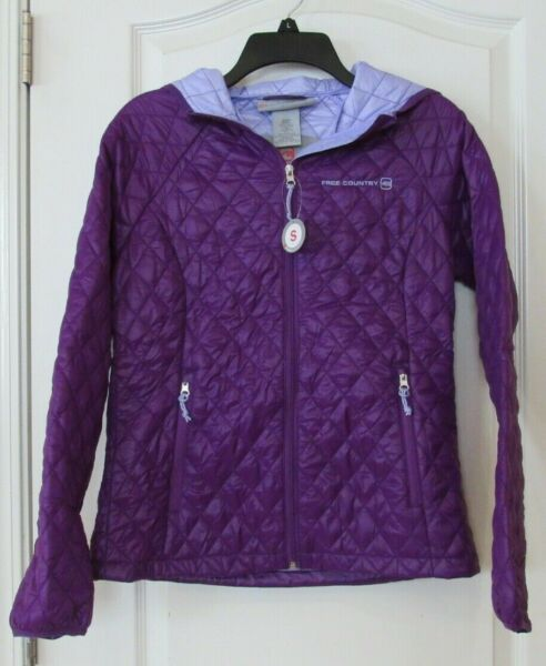 Free Country Quilted Packable Jacket Women#x27;s BLACK or SPK PURPLE Sz S NWT $31.75