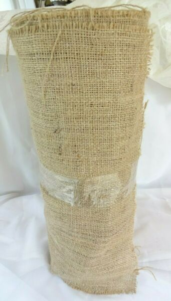 BURLAP FABRIC ROLL 18 INCH WIDE 100% NATURAL 18quot; OPEN ROLL NEW 33 LINEAR YARDS