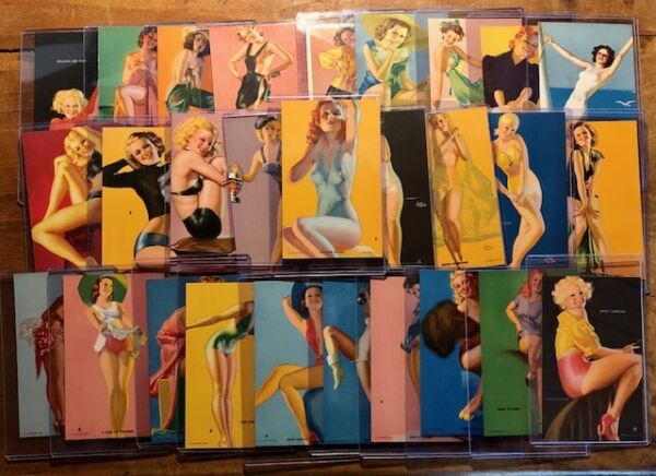 MUTOSCOPE FULL SET Artist Pin Up Cards Earl Moran Gil Elvgren Rolf Armstrong