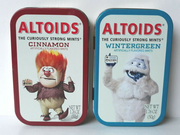 ALTOIDS Abominable Snowmint Bumble #x27;02 and Heat Miser #x27;03 Collectible Tins EMPTY