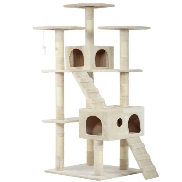 73quot; Cat Tree Condo for Indoor Cat Big Tower Giant Large Tall Furniture Scratcher $85.99