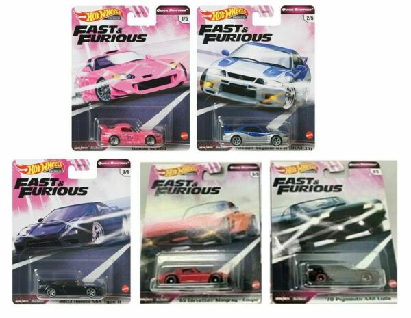 2020 Hot Wheels Fast and Furious Quick Shifters Set of 5 Cars 1 64 Diecast $34.95