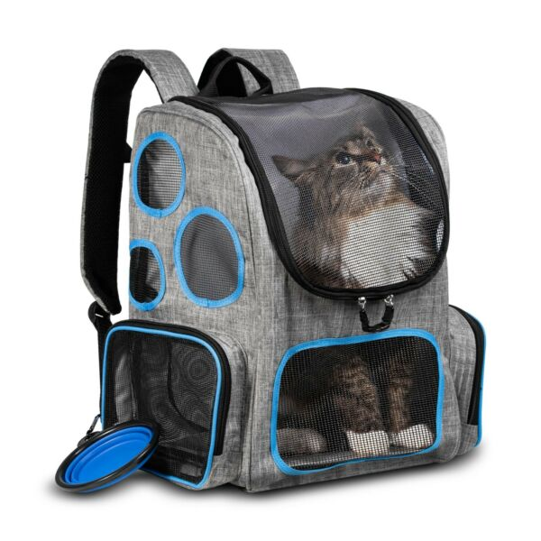 Cat Dog Backpack Carrier for outdoors hikes travel trips to the vet comfortable $28.99