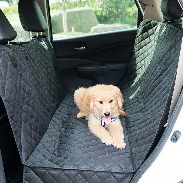 100% Waterproof Pet Dog Seat Cover with Hammock for Cars Trucks and SUVs Black $24.99