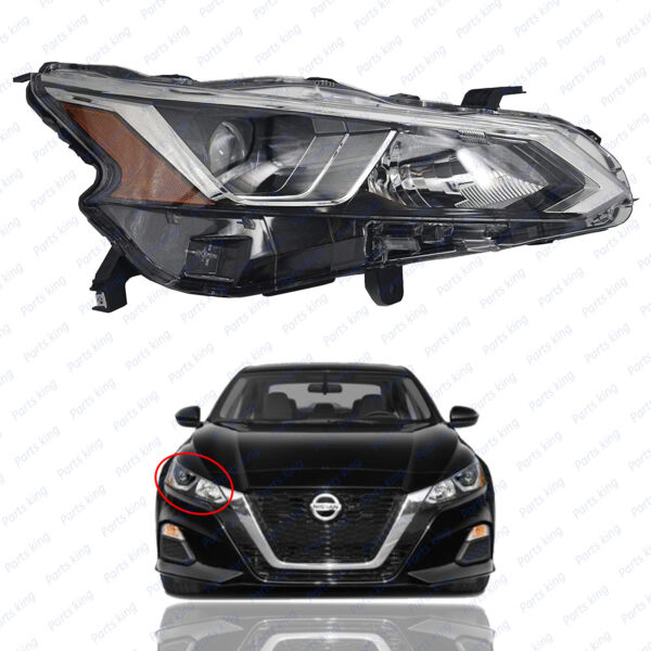 For 2019 2020 Nissan Altima Halogen Headlight Passenger 26010 6CA0A w o LED $129.95