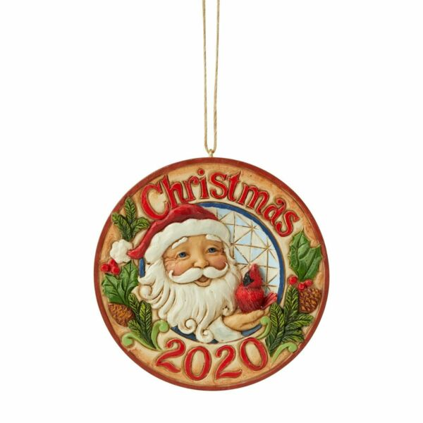 Jim Shore SANTA WITH CARDINAL DATED 2020 ANNUAL HANGING ORNAMENT 6006665 NEW