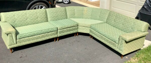 Green Mid century sectional sofa $450.00