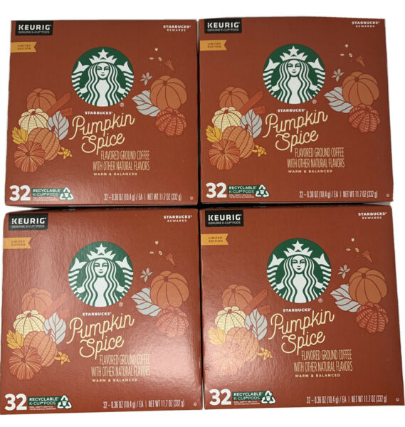 STARBUCKS Pumpkin Spice Coffee K Cups 128 count Best By May 2020