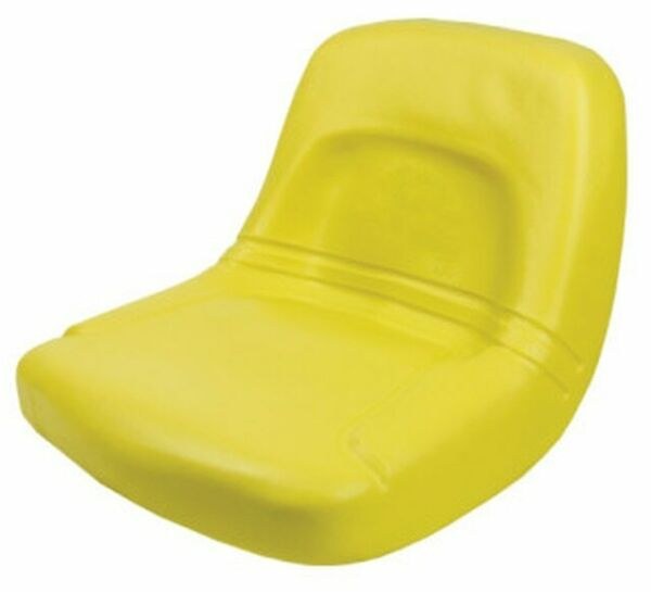 High Back John Deere Lawn Mower Garden Tractor Seat Yellow