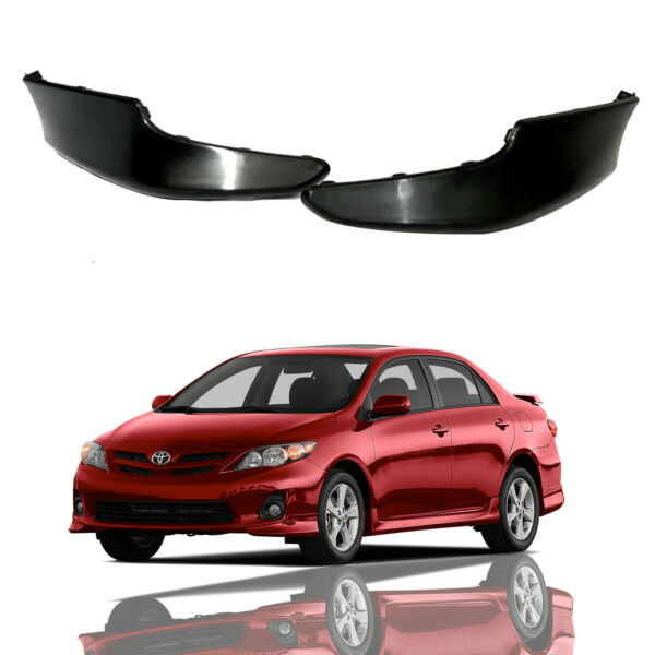 For 2011 2013 Toyota Corolla S Factory Style Front Bumper Lips Spoiler Kit 2pcs $46.95