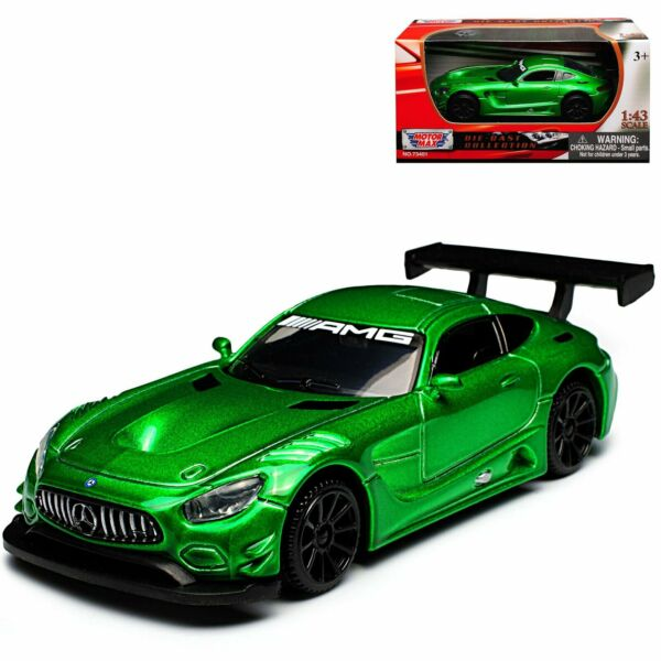 MERCEDES BENZ AMG GT3 1:43 Model Toy Car Diecast Cars Miniature Die Cast Green