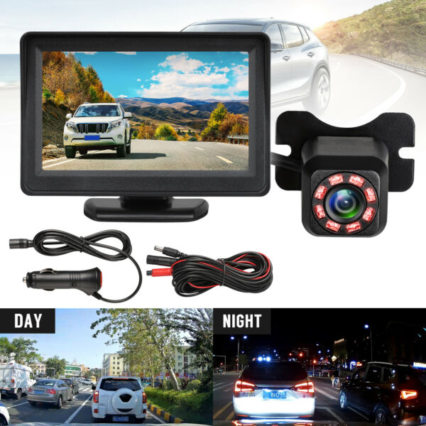 Wireless Waterproof Backup Camera System Car Rear View Parking HD 4.3#x27; Monitor $19.48