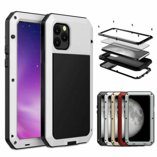 Shockproof Aluminum Heavy Duty Metal Cover Case For iPhone 7 8 Plus X XR XS Max