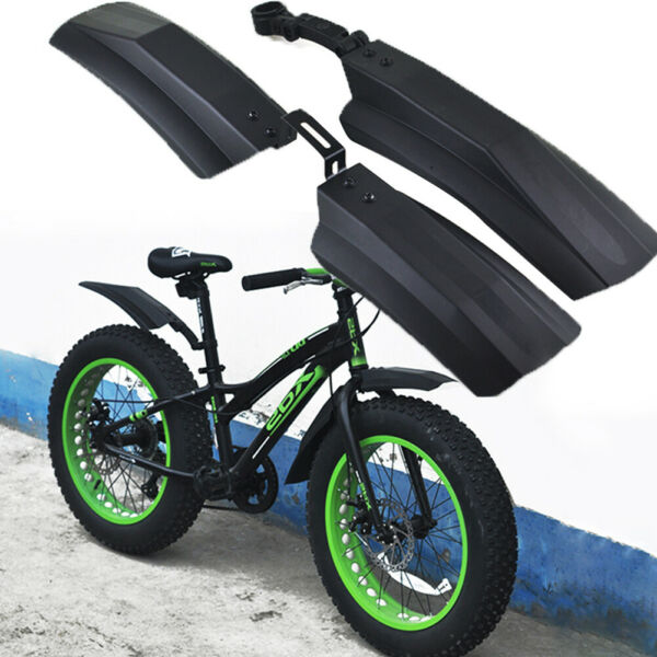 2PCS 20inch 26inch Snow Bicycle Bike Front Rear Mud Guard Fenders for Fat Tire $9.89