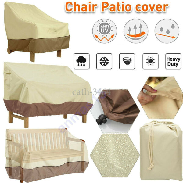 Patio Cover Outdoor Furniture Porch Sofa Waterproof Dust Proof Loveseat