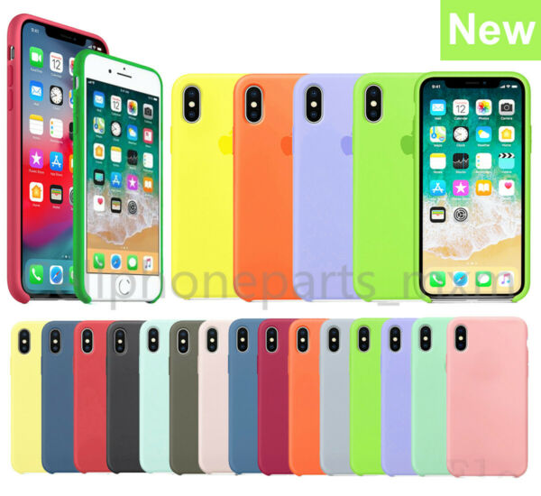 Original Silicone Genuine Luxury Case Cover For Apple iPhone X XR XS Max 7 8Plus $9.57