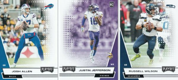2020 Panini Playoff Football YOU PICK RC#x27;S amp; BASE Mahomes Rodgers Brady Allen $2.99