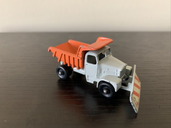 Vintage Matchbox Lesney No.16 Scammell Snow Plough Truck Gray Orange