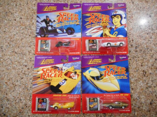 Johnny Lightning 1997 Complete 4 Car Set SPEED RACER Collectors Edition MACH 5 $22.00
