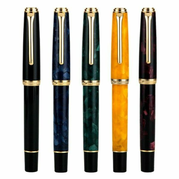 HongDian 960 Retro Resin Fountain Pen Nebula Series EF F Nib Writing Pen Gift