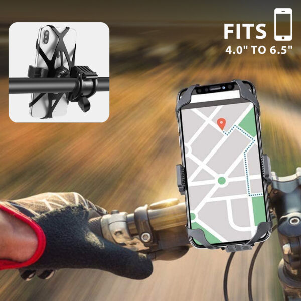 Bike Phone Mount Motorcycle Cell Phone Holder Bicycle Handlebar iPhone GPS Clip $9.36