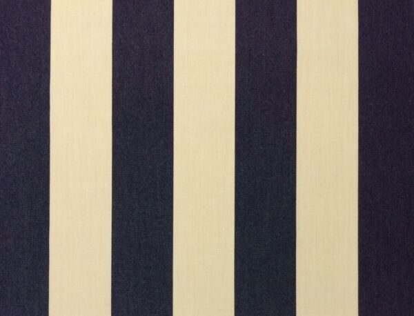 SUNBRELLA CANVAS STRIPE NAVY BLUE VELLUM OUTDOOR FURNITURE FABRIC BY YARD 54quot; W