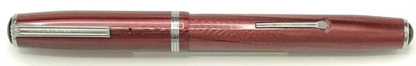 Vintage ESTERBROOK Lever Filled Red FOUNTAIN PEN #2556 NIB