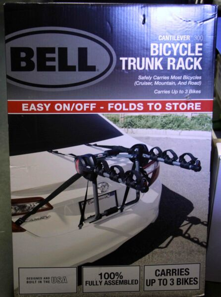 Bell Cantilever 300 3 Bicycle Trunk Rack $79.99