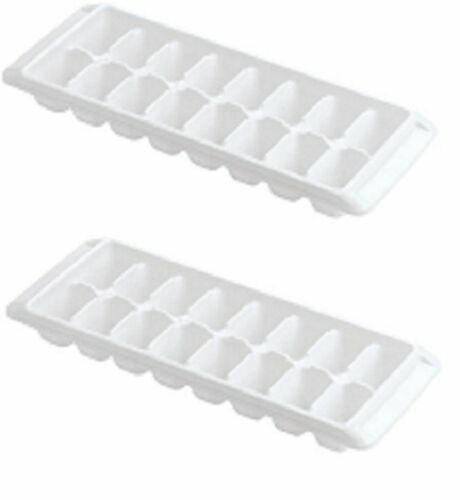 RUBBERMAID WHITE EASY RELEASE ICE CUBE TRAY 1998411 SET OF 2 NEW $7.69