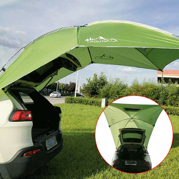 2.8*1.9m Car Tent Trailer Awning Rooftop SUV Truck Shelter Camping Tent Kit $77.00