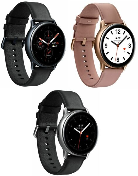 Samsung Galaxy Watch Active 2 40mm 44mm Stainless Steel Black Gold Silver LTE $119.99