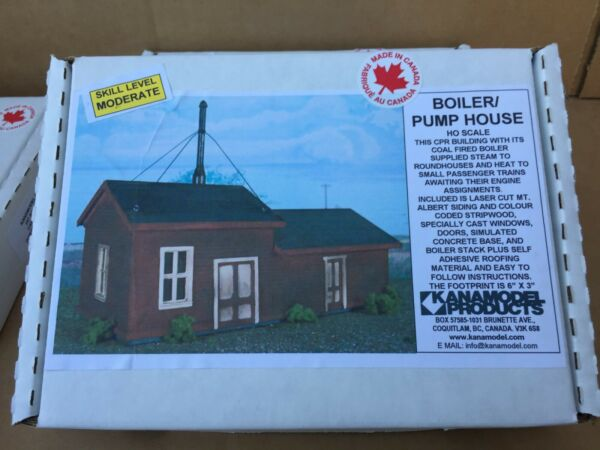 KANAMODEL # 1042 H O SCALE BOILER PUMP HOUSE CPR OF WOOD amp; PLASTIC $22.00