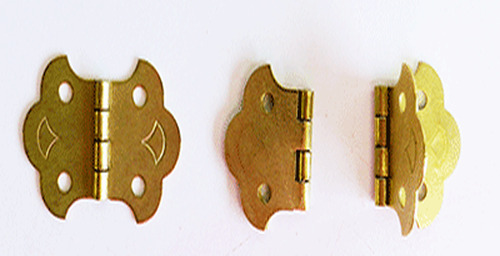 24 Pcs Small Brass Butterfly Folding Hinges 2quot; Woodworking Cabinetry Crafting
