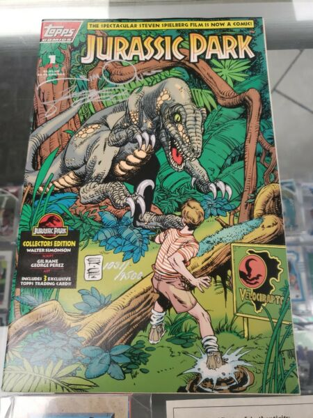 Jurassic Park #1 Signed By George Perez And Walt Simonson With COA Cards $39.99