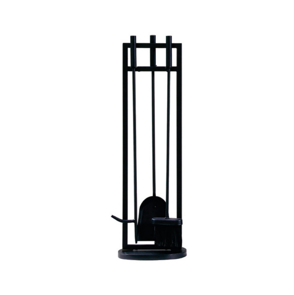4 Piece Classic Black Fireplace Tool Set 28 in H
