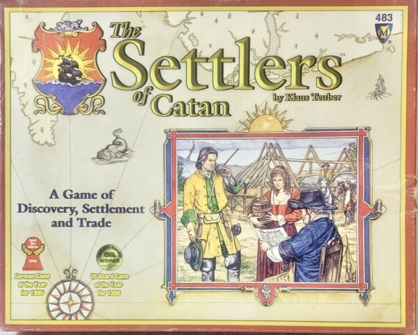The Settlers Of Catan Board Game Opened Slightly Used Never Played VINTAGE RARE