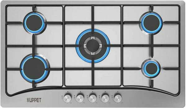 KUPPET QM5113 Gas Stove Cooktop 34 Inch Gas Cooktop